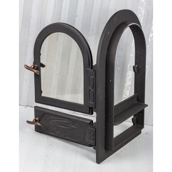 Дверки двойные чугунные печные и зольные