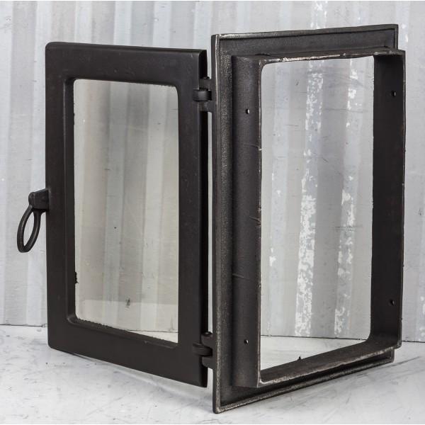 Каминные дверцы со стеклом (35 х 49 см)