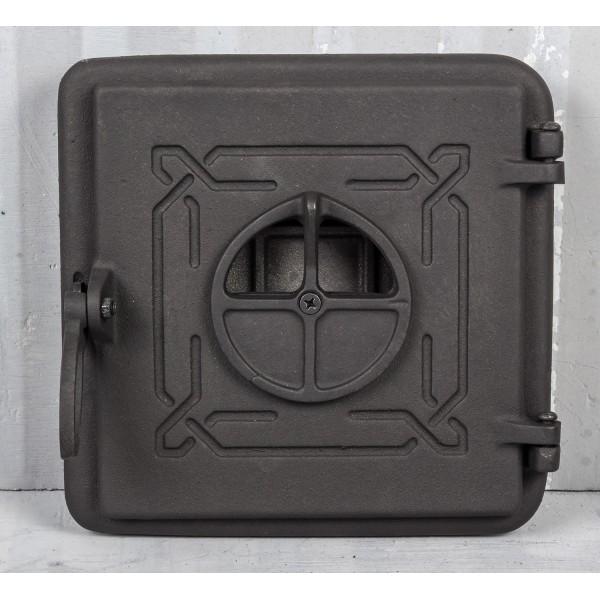 Чугунная дверца печки