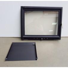 Стеклянная дверца с зольником (60х49 см)