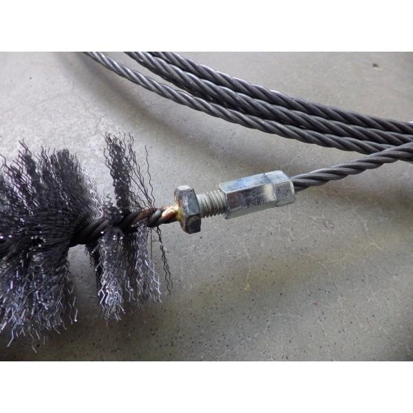 Металлический трос для чистки дымохода