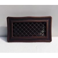 Вентиляционная металлическая решетка «Деко» медная патина