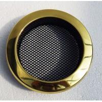 Вентиляционная круглая решетка для камина Parkanex латунь
