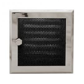 Вентиляционная решетка каминная Standart с жалюзи хром