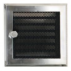 Решетка каминная вентиляционная с жалюзи Standart хром шлифованный
