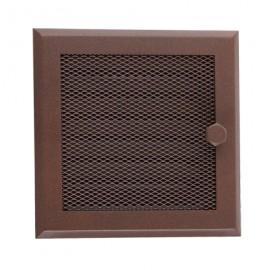 Каминная вентиляционная решетка Standart коричневая с жалюзи
