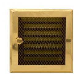 Решетка вентиляционная с жалюзи для камина Standart латунная