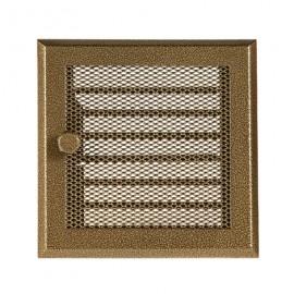 Решетка каминная вентиляционная с жалюзи Standart старое золото