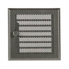 Каминная вентиляционная решетка с жалюзи Standart старое серебро