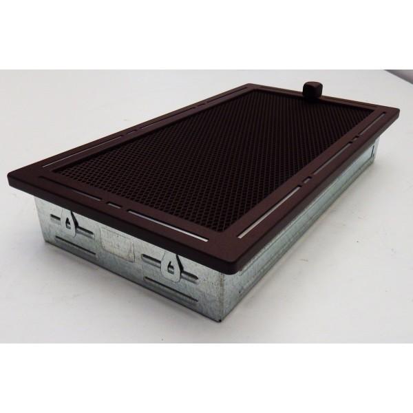 Металлическая решетка для вентиляции камина «Тренд» коричневая