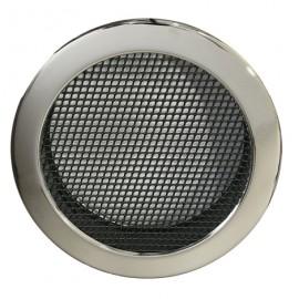 Решетка вентиляционная круглая для камина Parkanex хром