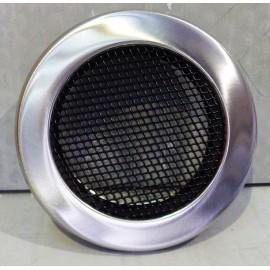 Круглая решетка вентиляционная хром шлифованный