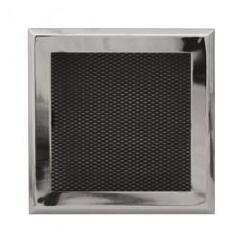 Решетка вентиляционная каминная Standart хром
