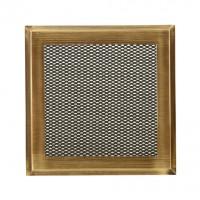 Решетка вентиляционная для камина Standart латунь-патина