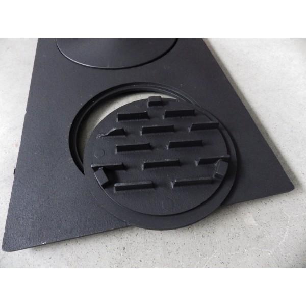Чугунная плита для печки с полотенцесушителем